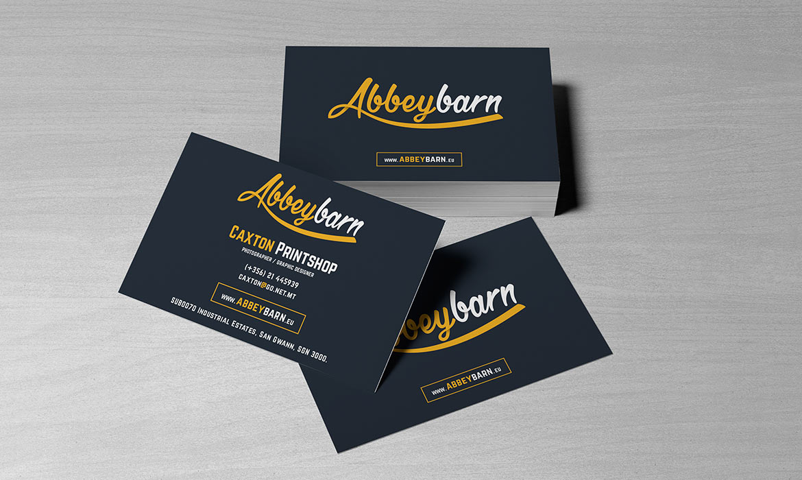 printed and laminated business cards