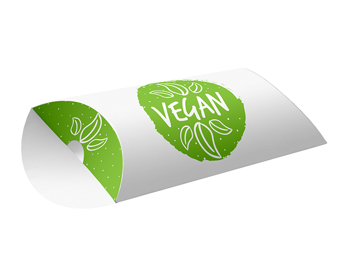 vegan pillow box packaging